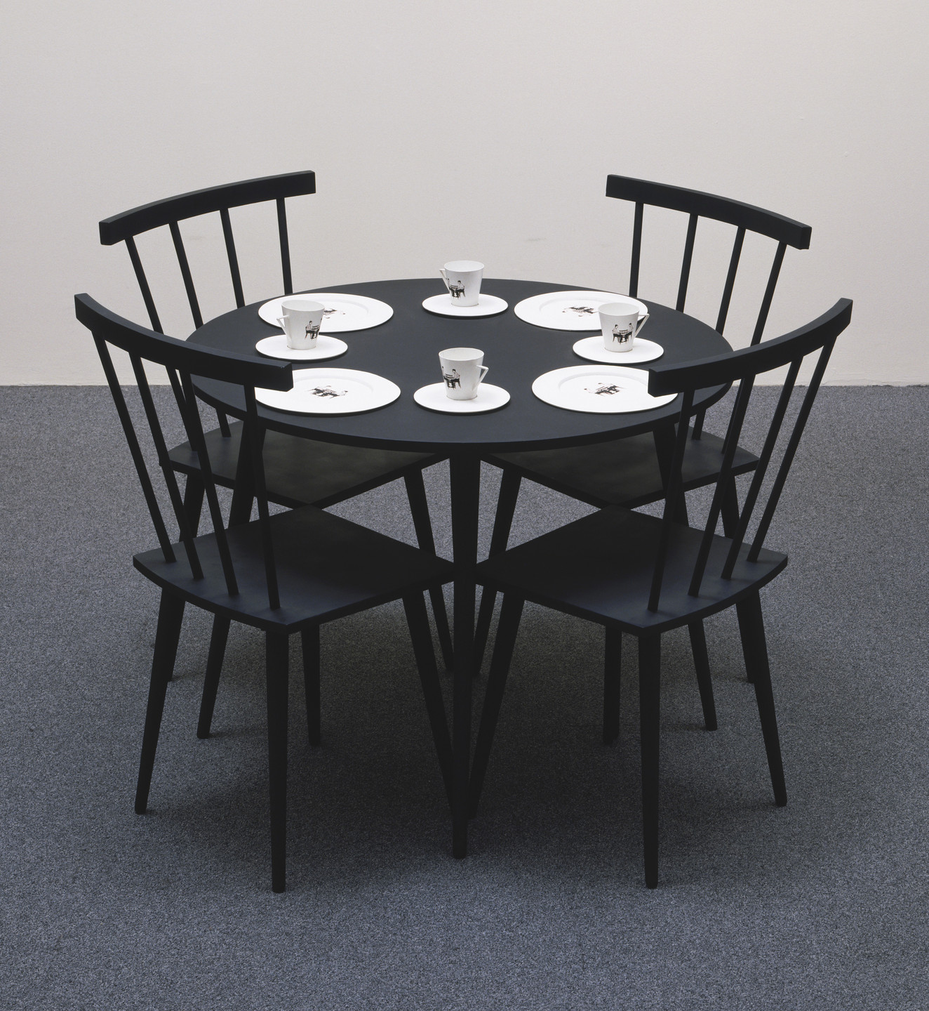 Katharina Fritsch. Black Table with Table Ware. 1985