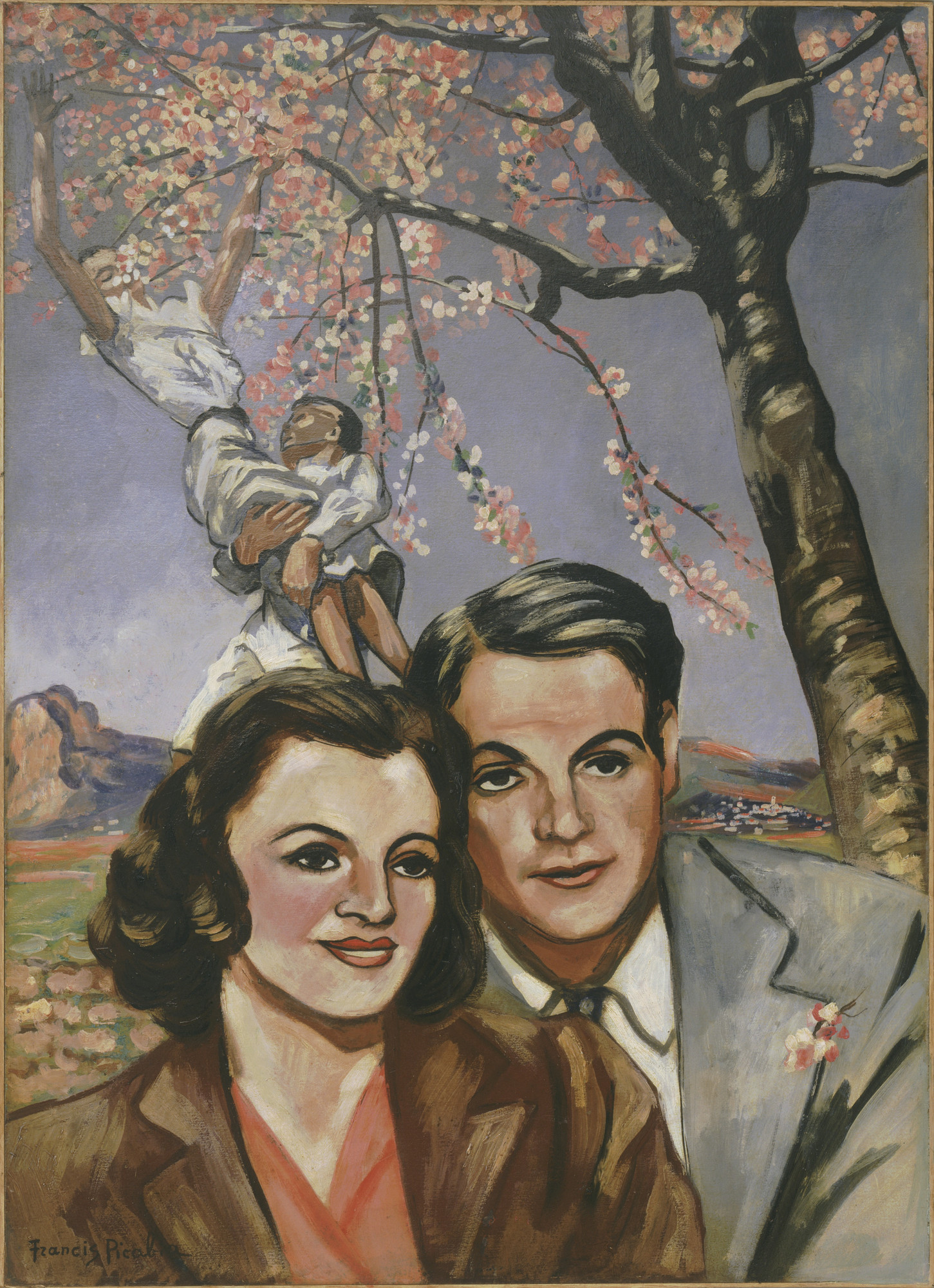 Francis Picabia. Portrait of a Couple. Golfe-Juan and/or Tourettes-sur-Loup, 1942-43