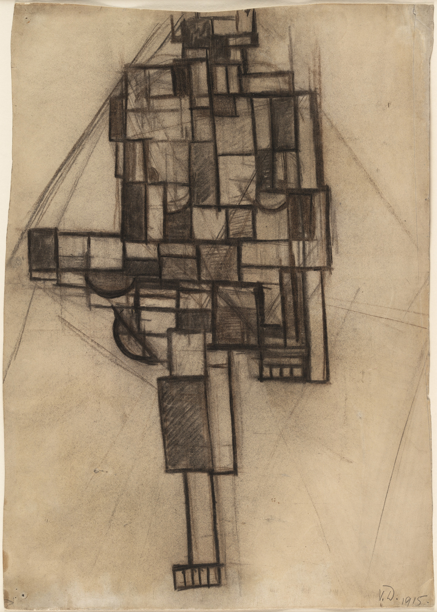 Theo van Doesburg (Christian Emil Marie Küpper). Composition. (1917) (inscribed 1915)