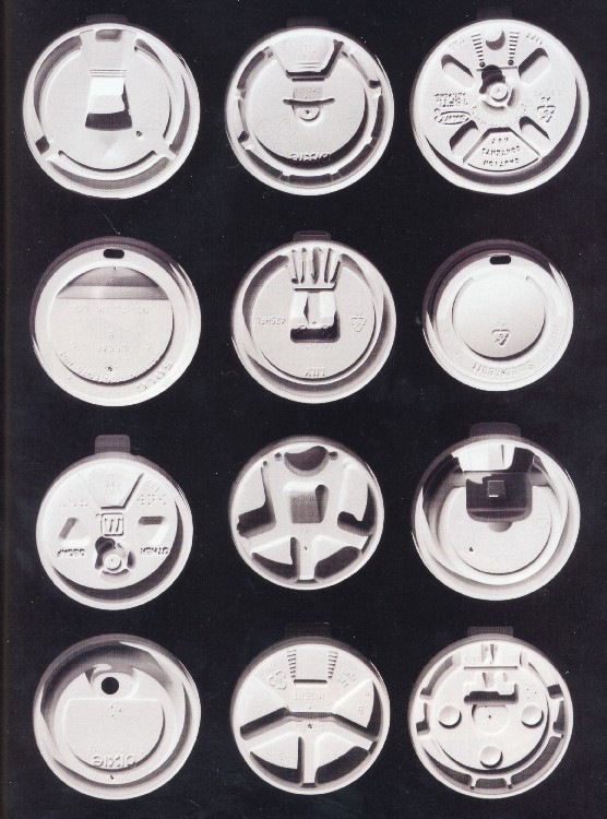 "Jack Clements. ""Solo Traveler"" Coffee Cup Lid. 1986"