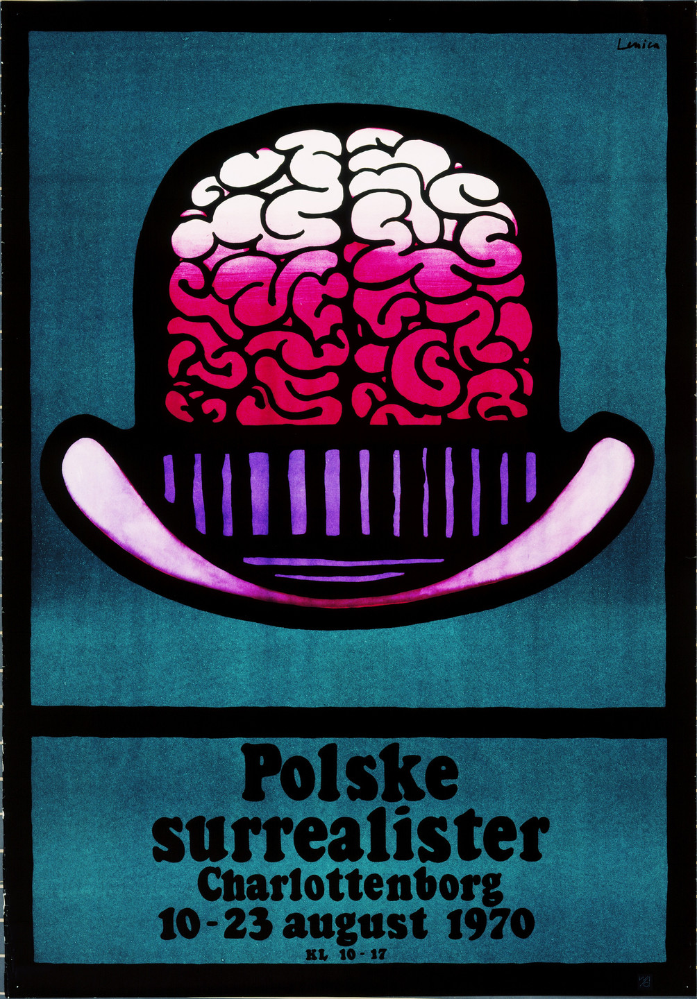 Jan Lenica. Polske Surrealister (Polish Surrealists) (Poster for a Berlin exhibition of Polish Surrealist art). 1970