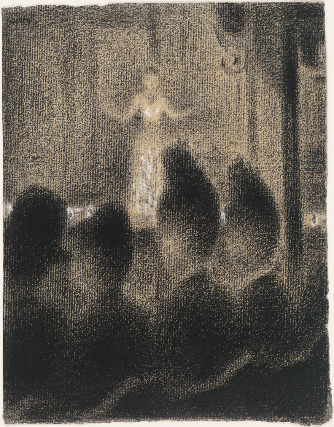 Georges-Pierre Seurat. At the Concert Européen (Au Concert Européen). c. 1886–88