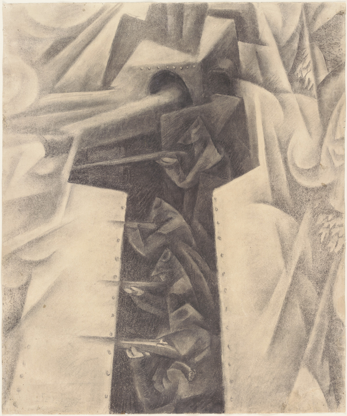 Gino Severini. Armored Train in Action. 1915