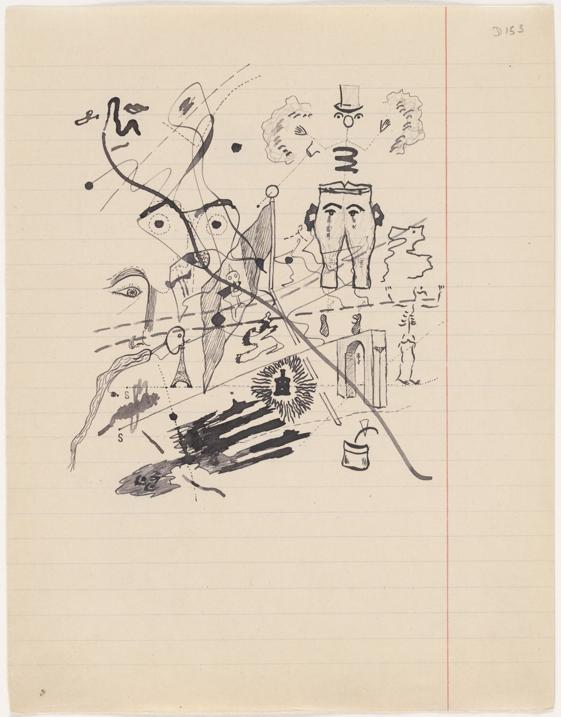 Georges Bataille. Untitled drawing for Soleil vitré. c. 1925