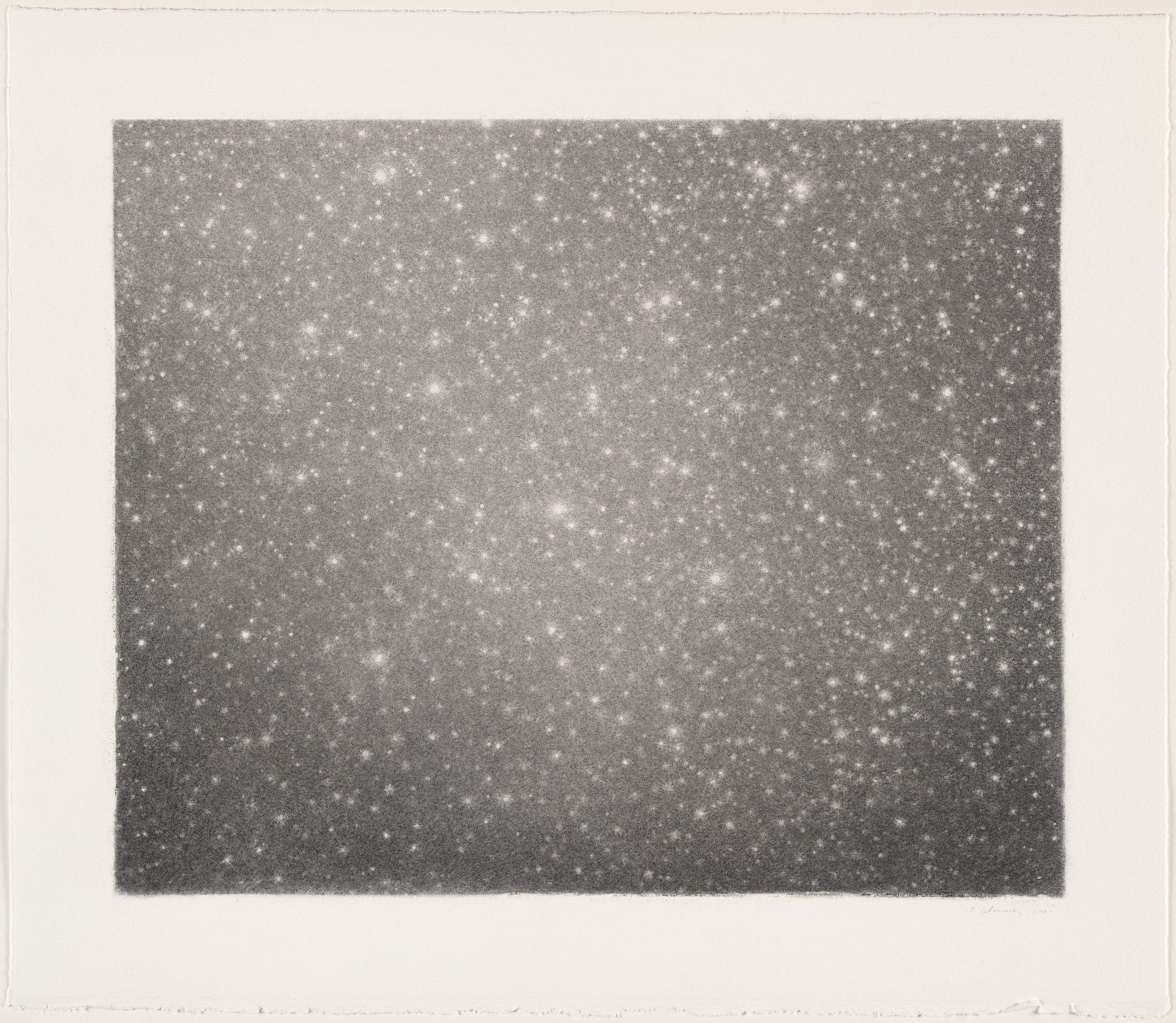 Vija Celmins. Untitled (Night Sky #22). 2001