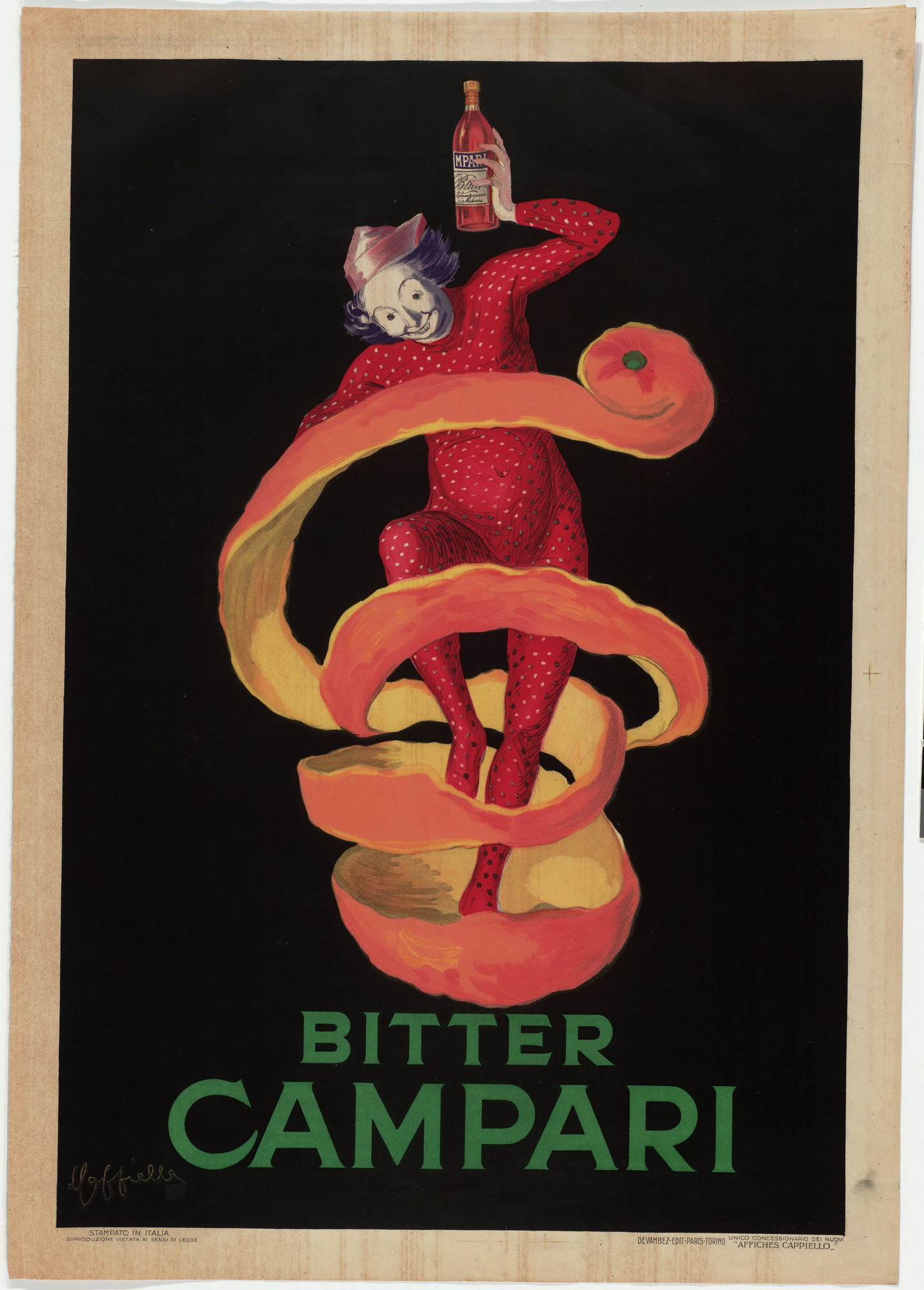 Leonetto Cappiello. Bitter Campari. 1921