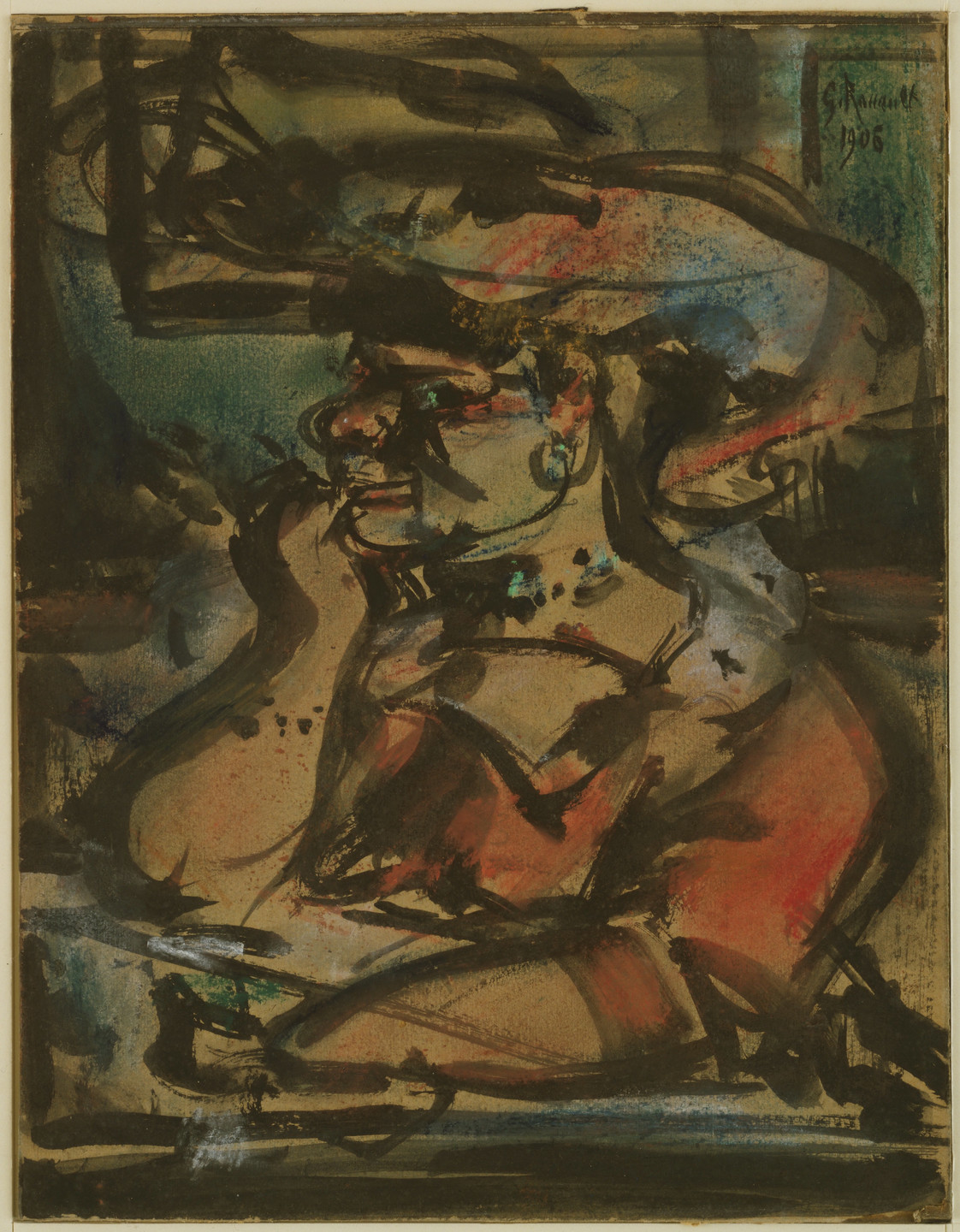 Georges Rouault. Woman at a Table (The Procuress). 1906