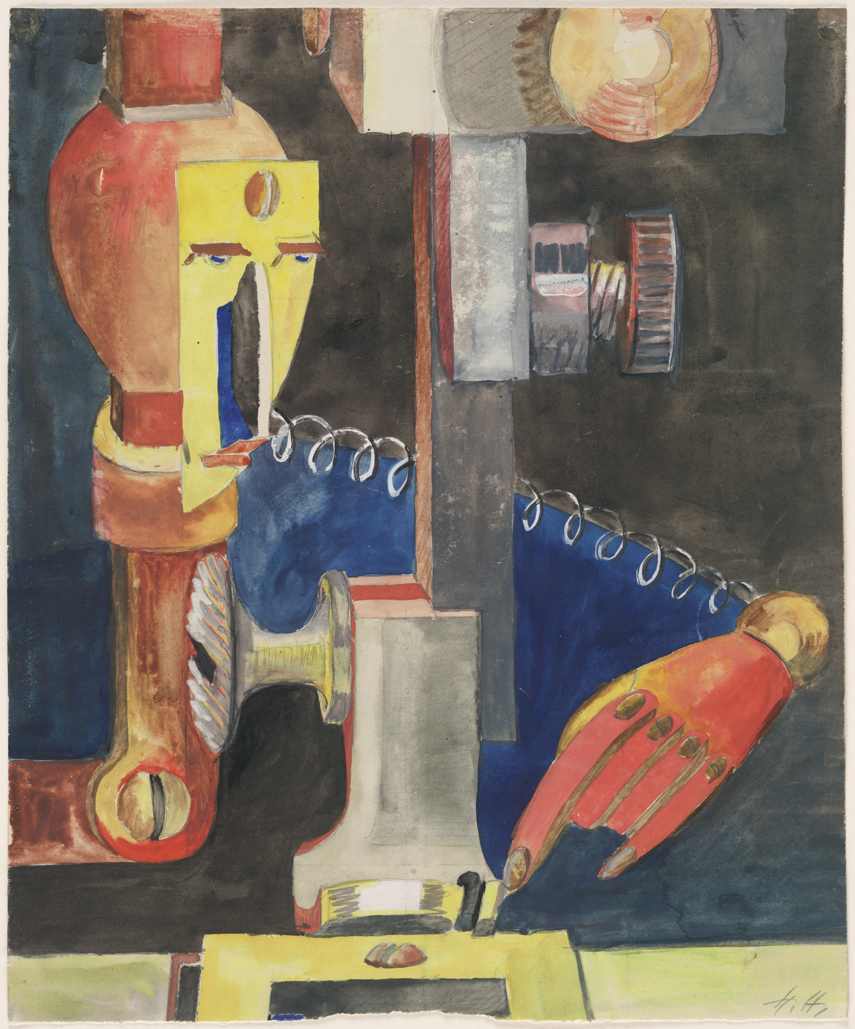 Hannah Höch. Study for Man and Machine (Skizze zu Mensch und Maschine). 1921