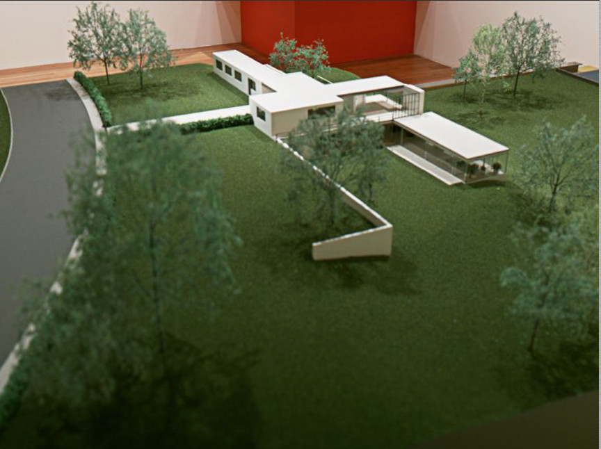 Ludwig Mies van der Rohe. Gericke House, project, Berlin-Wannsee, Germany, Landscape model. 1932