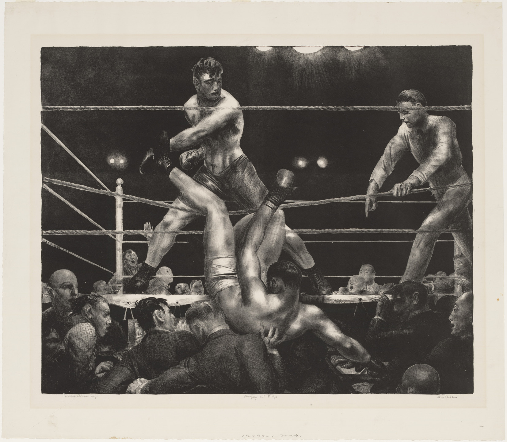 George Bellows. Dempsey and Firpo. 1923–24