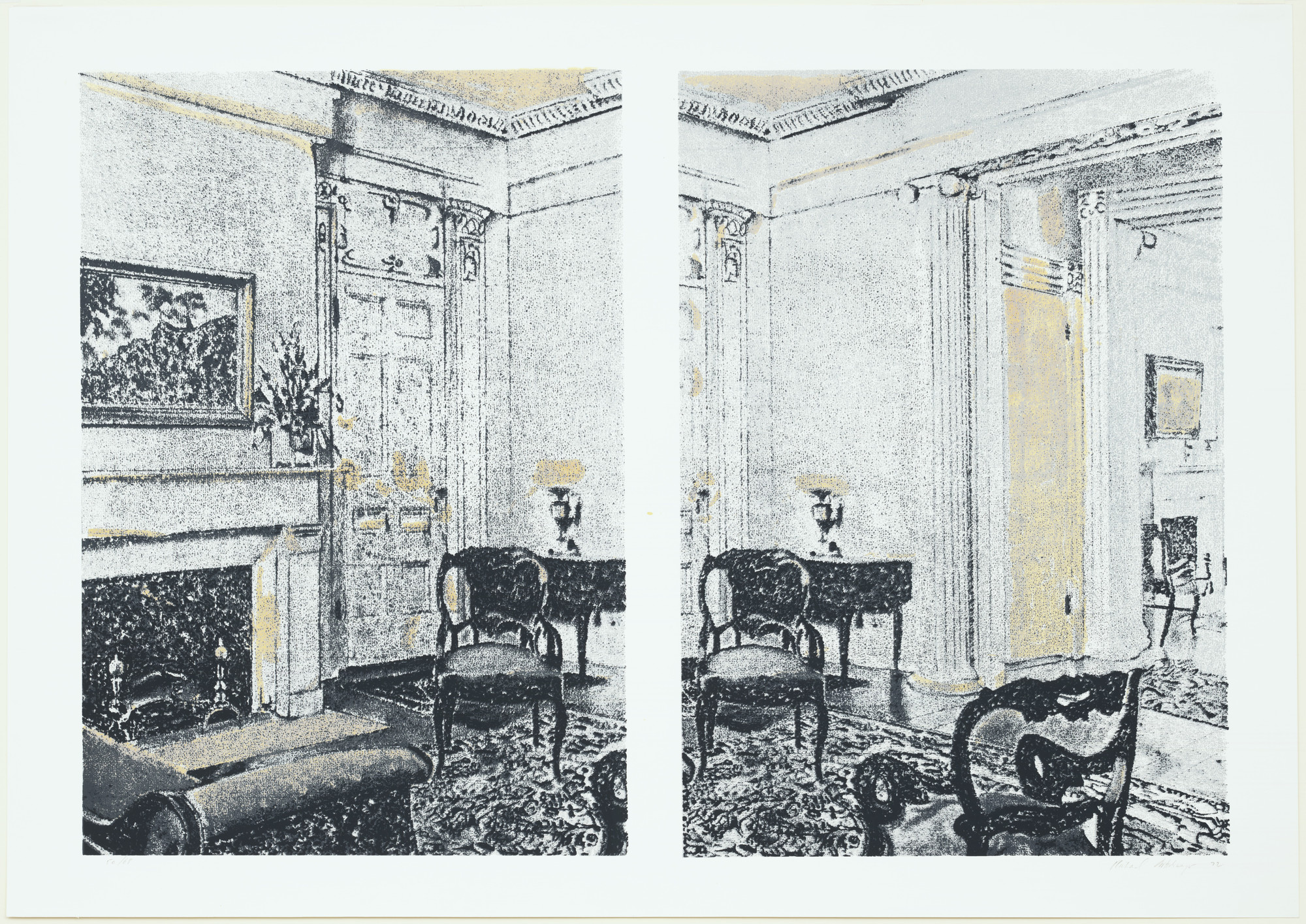 Richard Artschwager. Interior. 1972