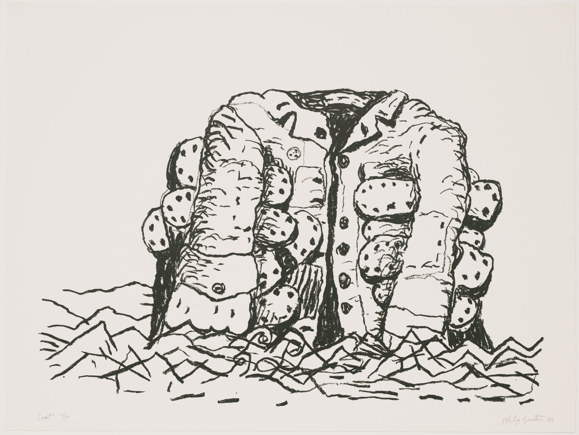 Philip Guston. Coat. 1980