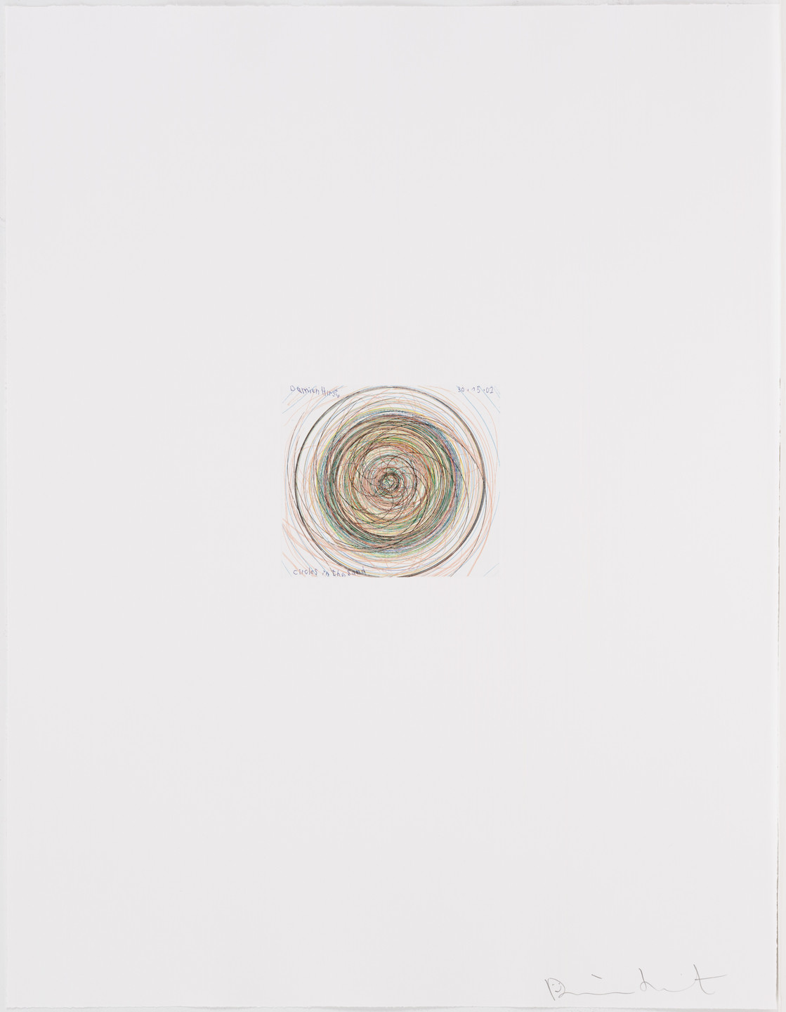 Damien Hirst. Circles in the Sand from In a Spin, the Action of the World on Things, Volume I. 2002
