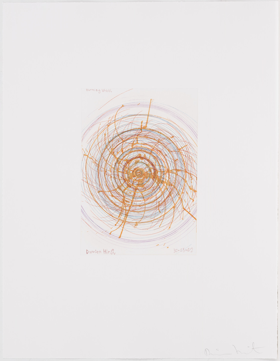 Damien Hirst. Burning Wheel from In a Spin, the Action of the World on Things, Volume I. 2002