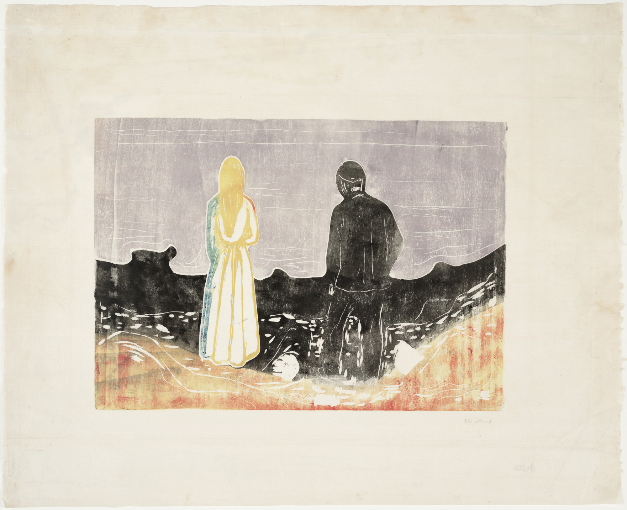 Edvard Munch. Two People. The Lonely Ones (To mennesker. De ensomme). 1899/1917