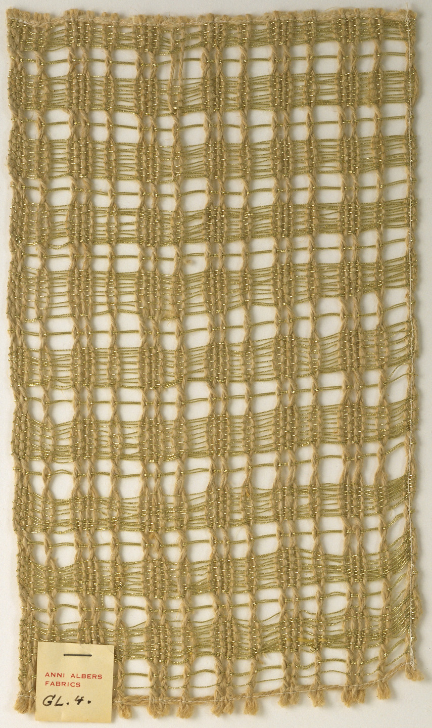 Anni Albers. Woven Fabric Sample. c. 1951