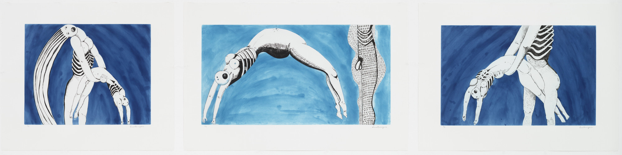Louise Bourgeois. Triptych for the Red Room. 1994