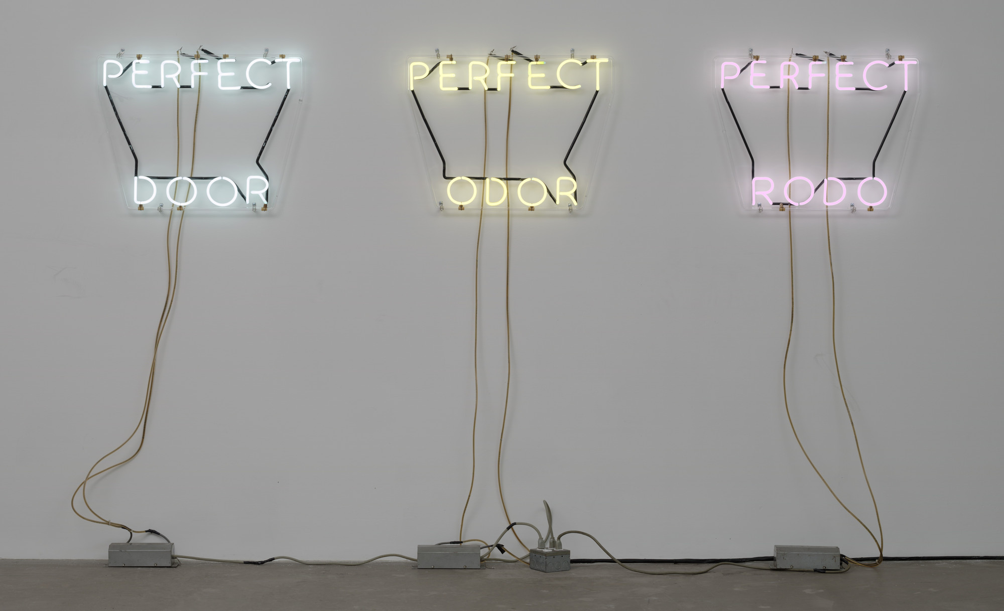 Bruce Nauman. Perfect Door/Perfect Odor/Perfect Rodo. 1972