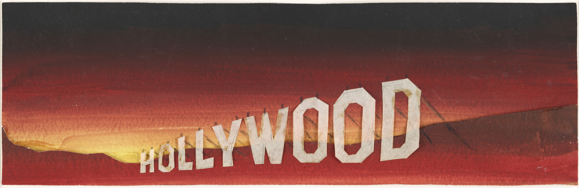 Edward Ruscha. Hollywood Study. (1968)