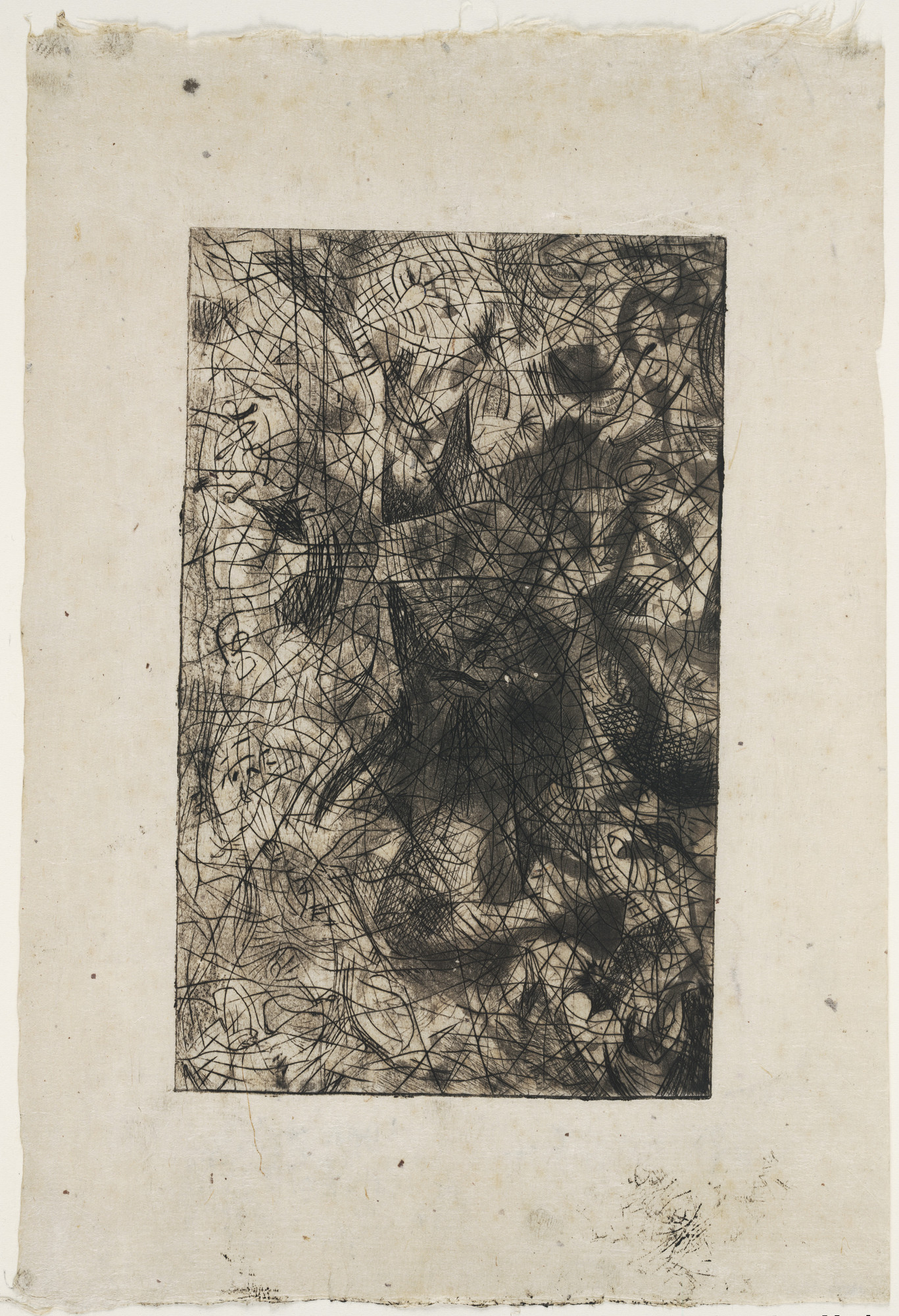 Jackson Pollock. Untitled (11), state II of II. c. 1944–45