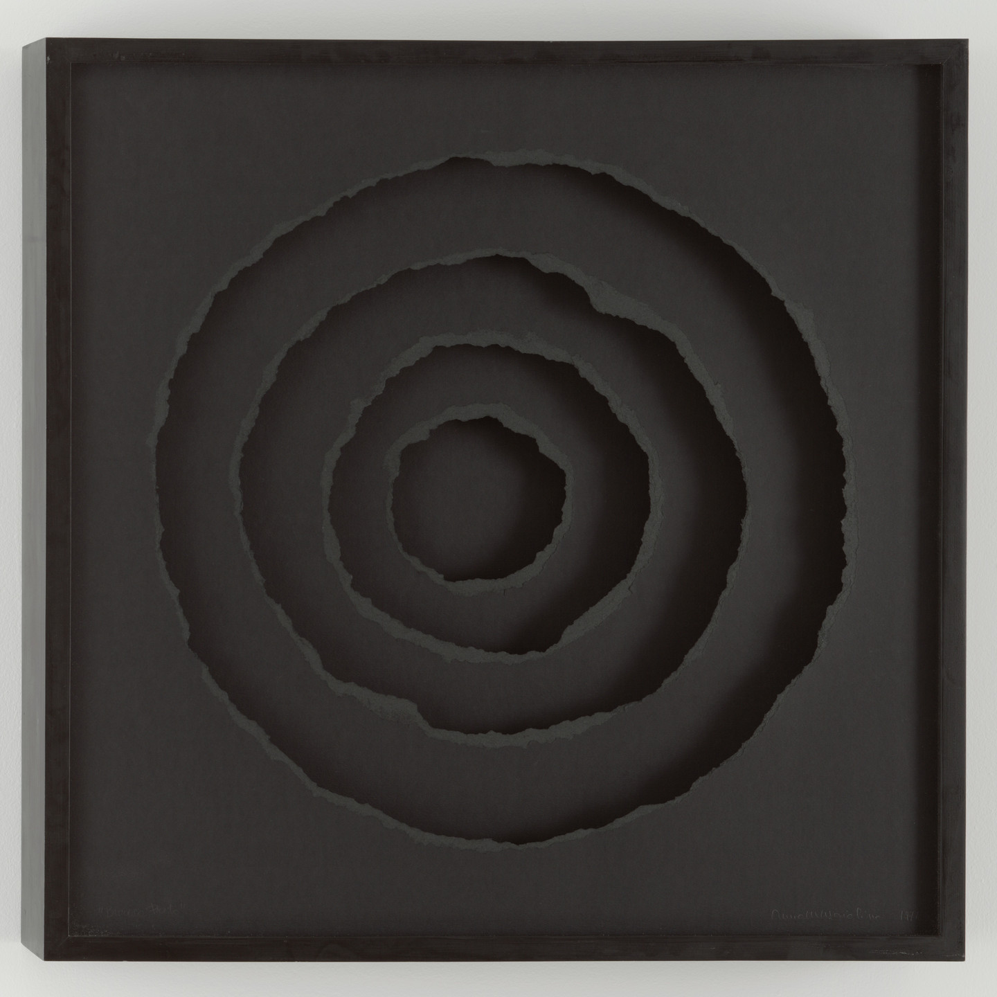Anna Maria Maiolino. Black Hole (Buraco Preto) from the series Holes/Drawing Objects (Os Buracos/Desenhos Objetos). 1974