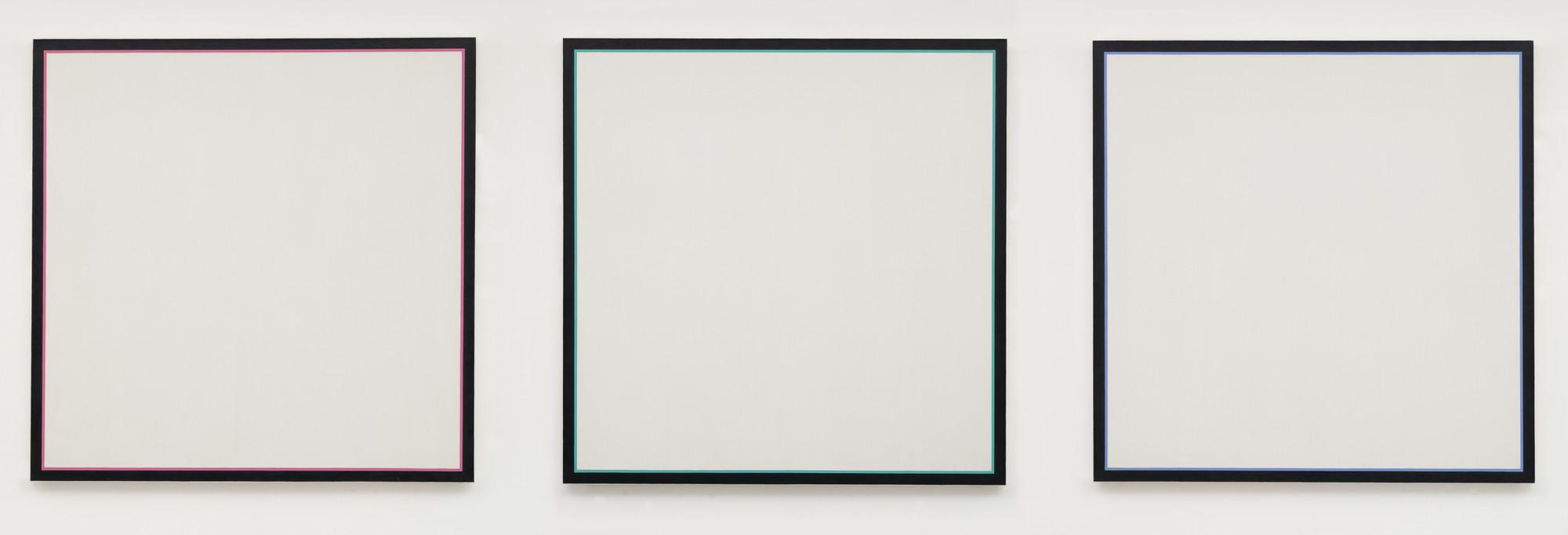 Jo Baer. Primary Light Group: Red, Green, Blue. 1964-65 | MoMA