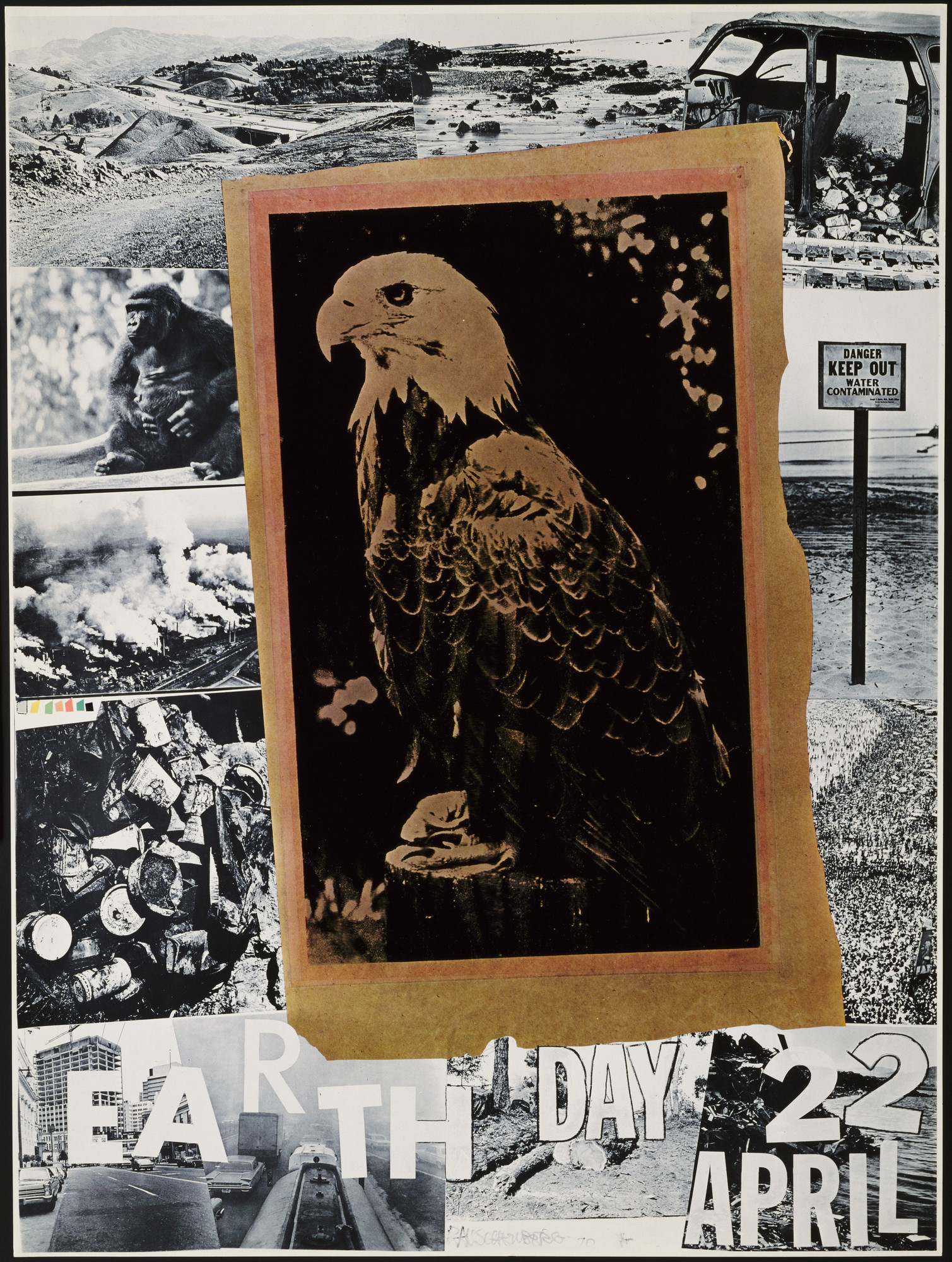 Robert Rauschenberg. Earth Day - 22 April. 1970
