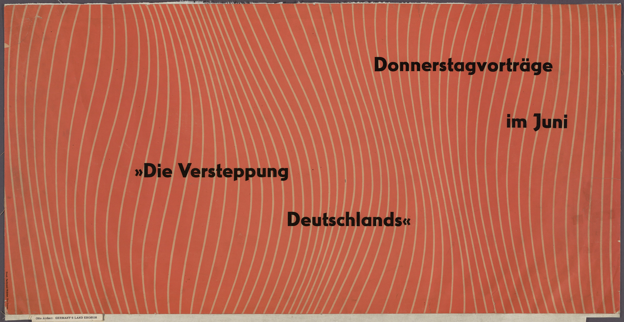 Otl Aicher (also known as Otto Aicher). Donnerstag Verträge in Juni. 1950