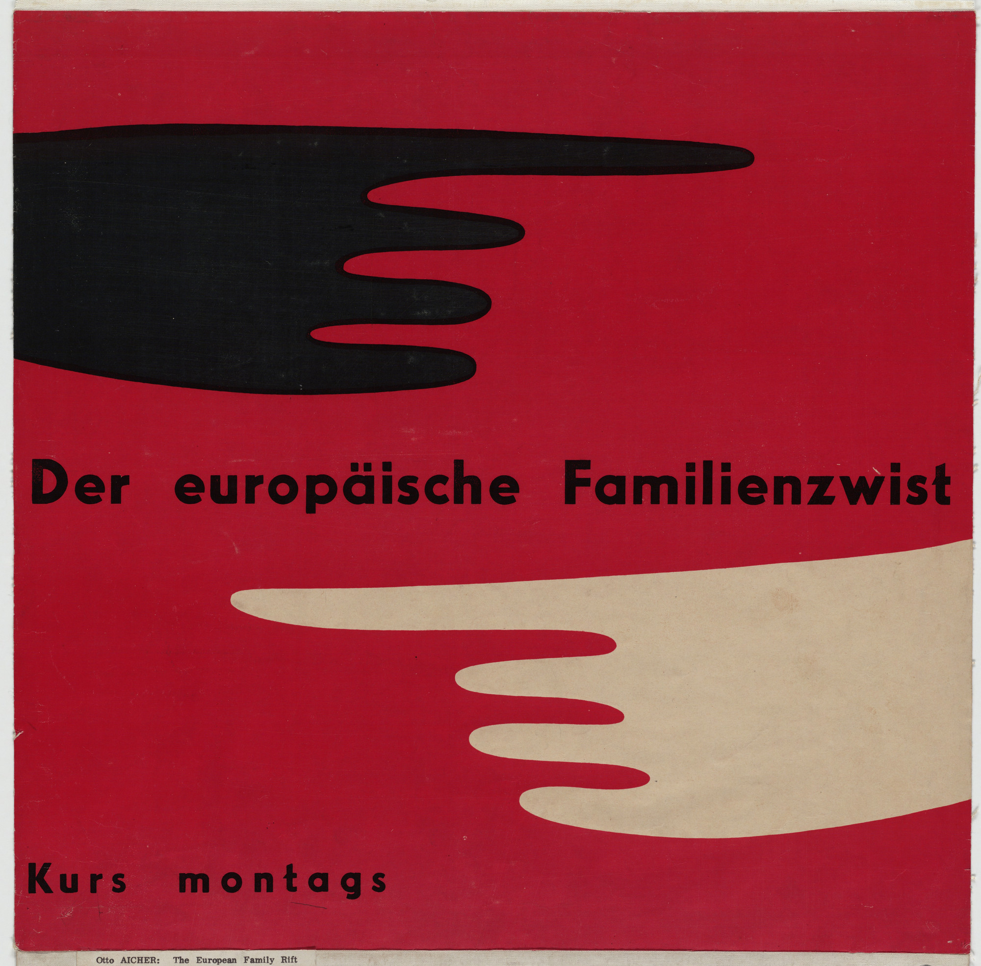 Otl Aicher (also known as Otto Aicher). Der Europäische Familienzwist (The European family quarrel). c. 1950