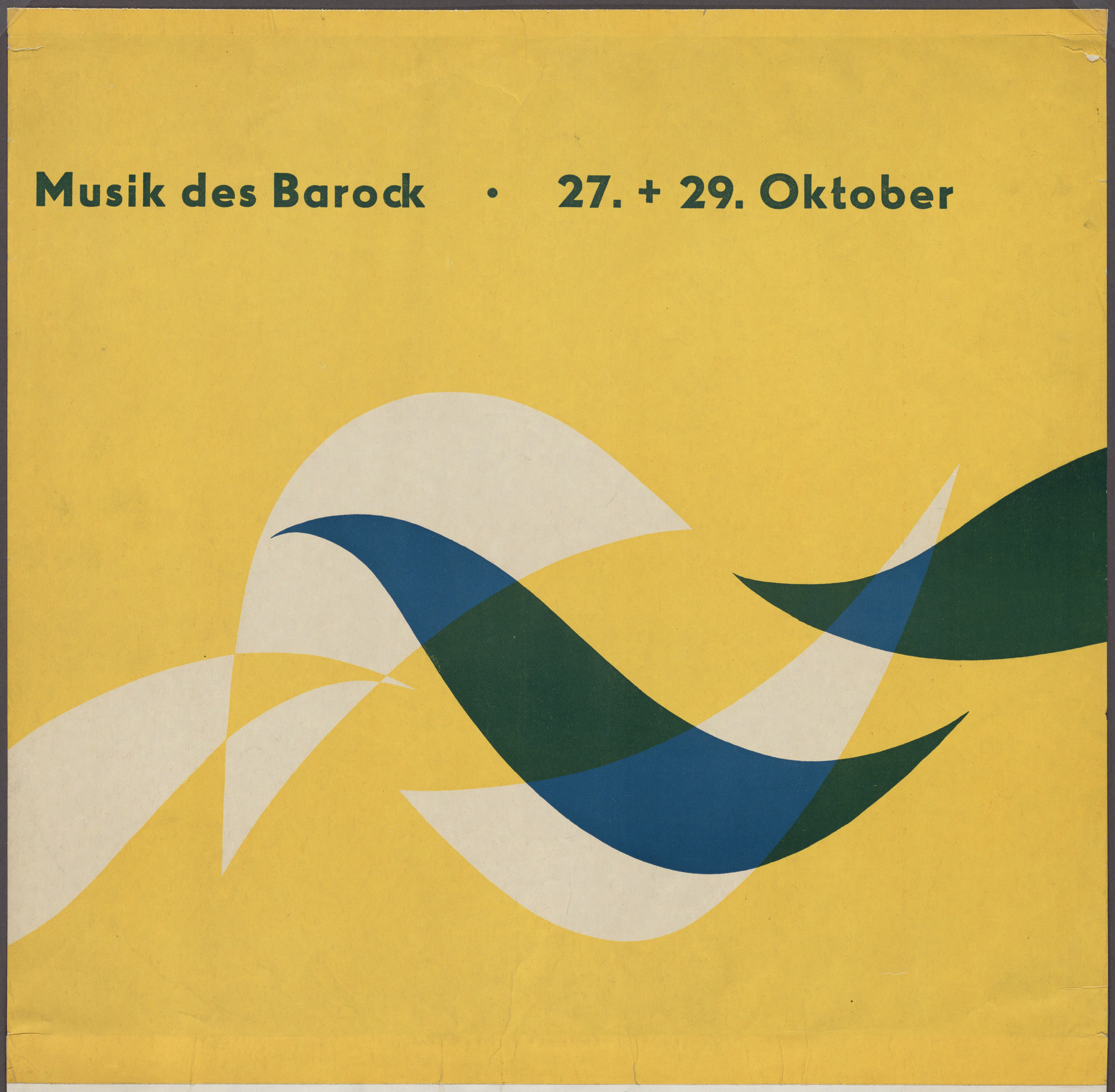 Otl Aicher (also known as Otto Aicher). Musik des Barock. 1949-51