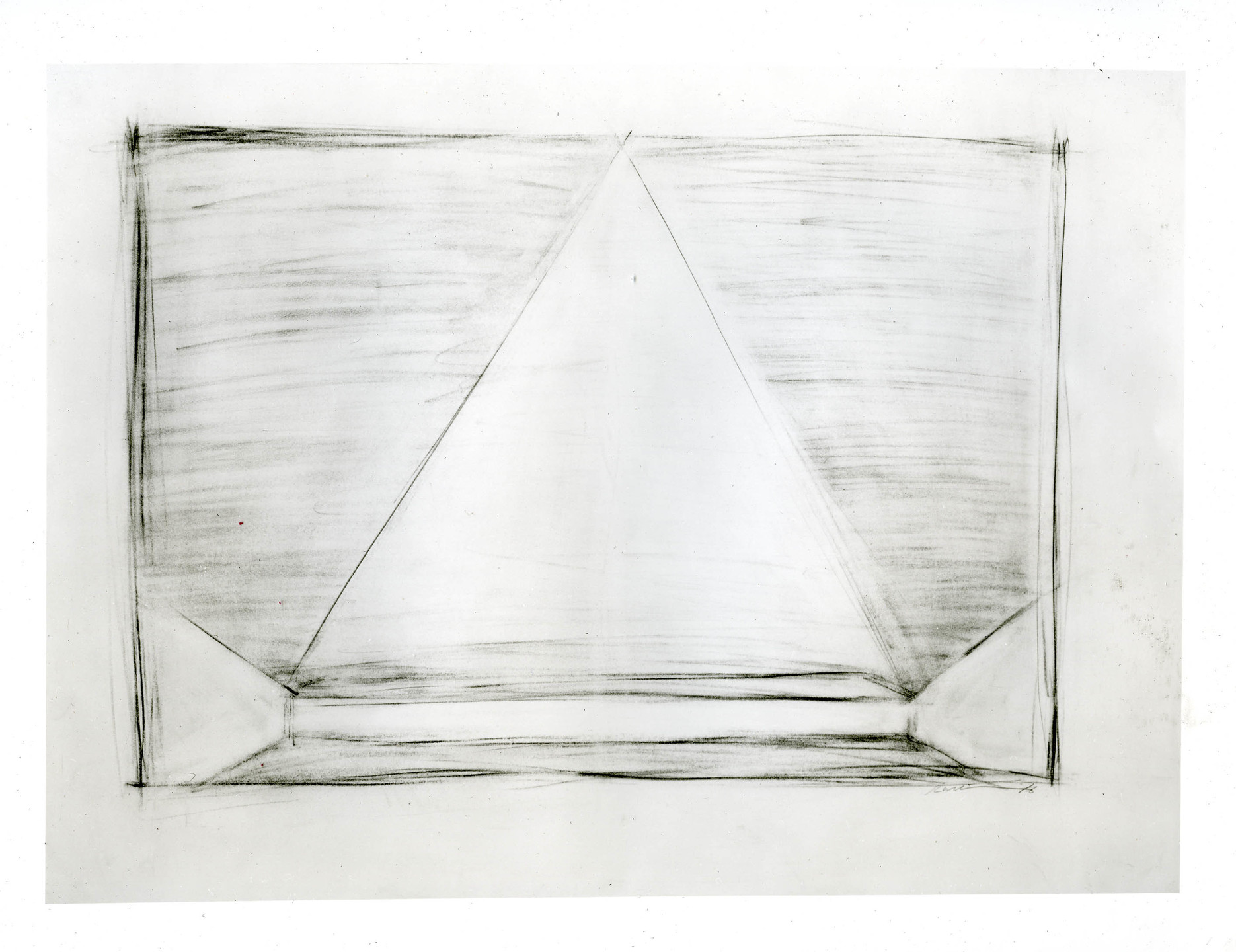 Robert Wilson. Drawing (Part of a suite of 4) The Bed Levitation Scene for Einstein on the Beach. 1976