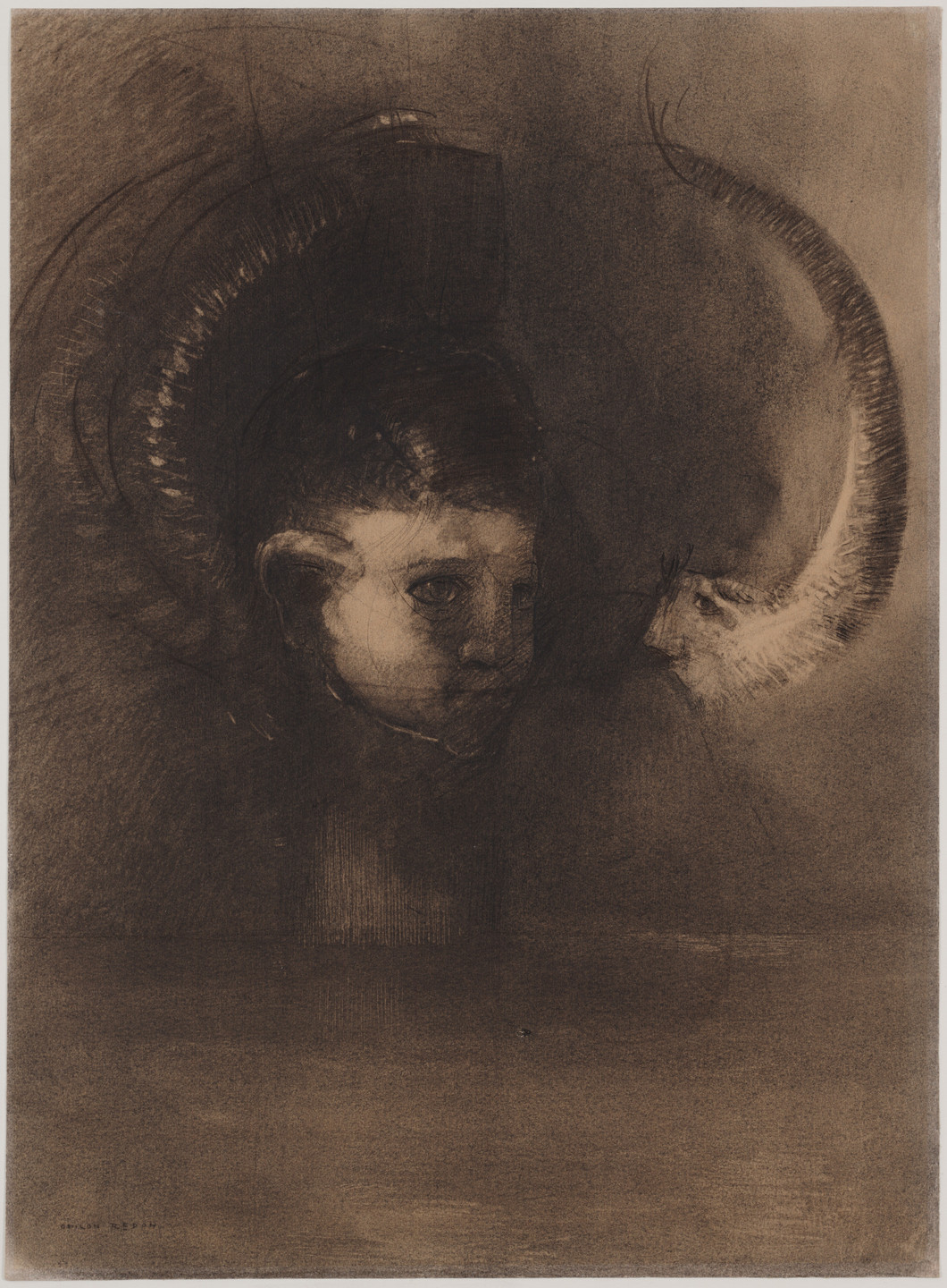 Odilon Redon. Dream Polyp. 1891