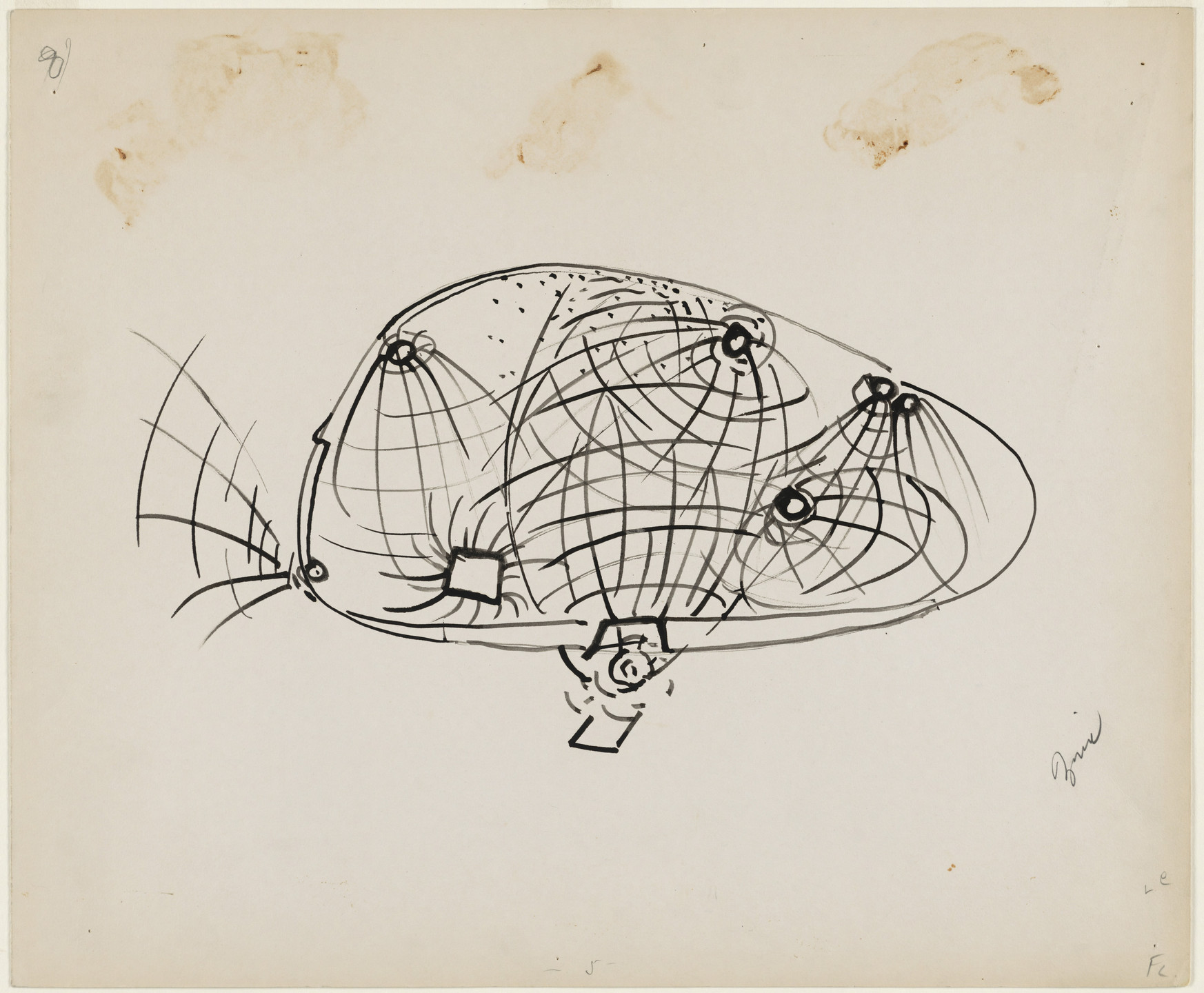 Frederick Kiesler. Endless House Project, Study for lighting. 1951