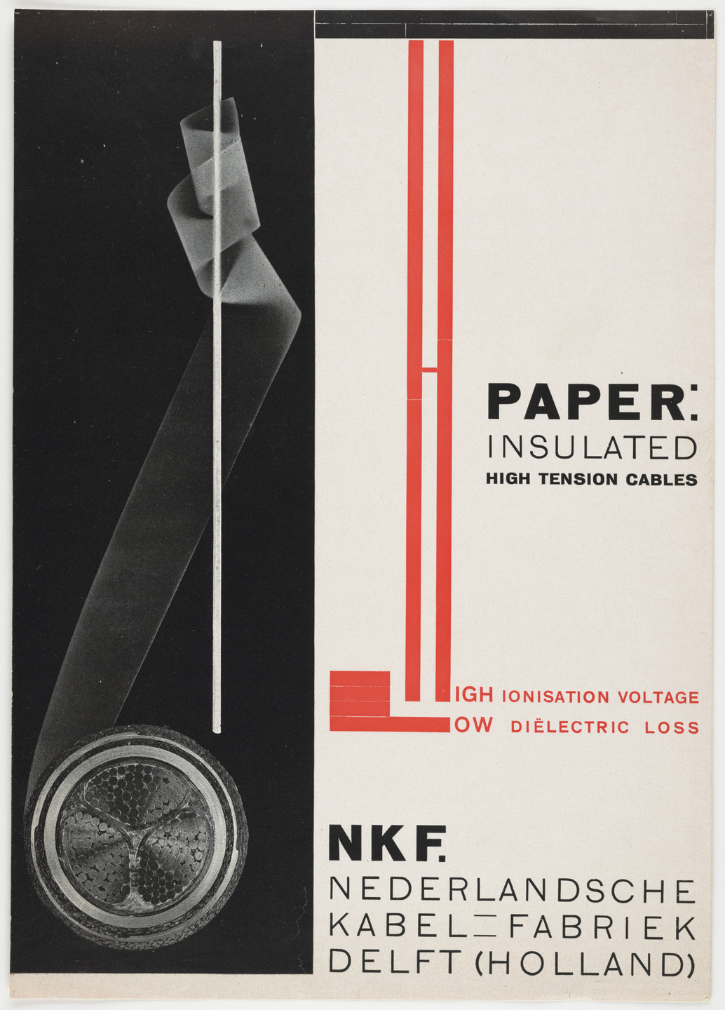Piet Zwart. Advertisement for NKF electrical cables. c. 1925