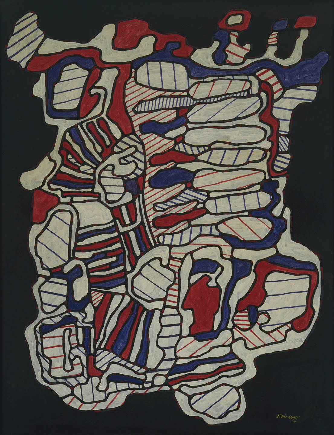 Jean Dubuffet. Abode V (with Stairs and Numerous Rooms). April 1966