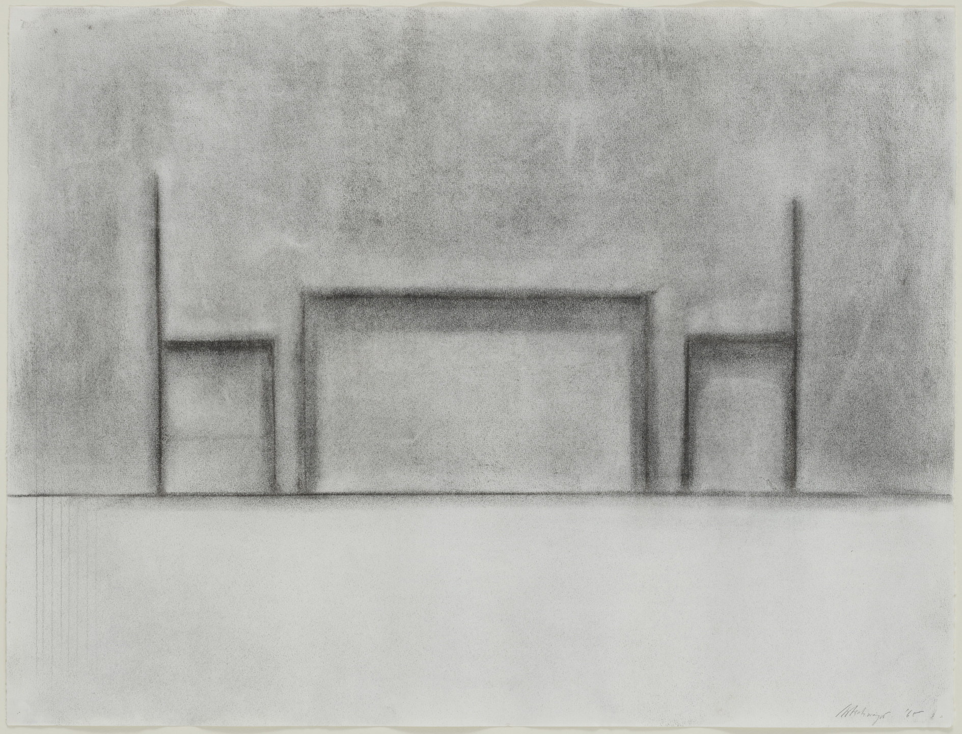 Richard Artschwager. Table and Two Chairs. 1965