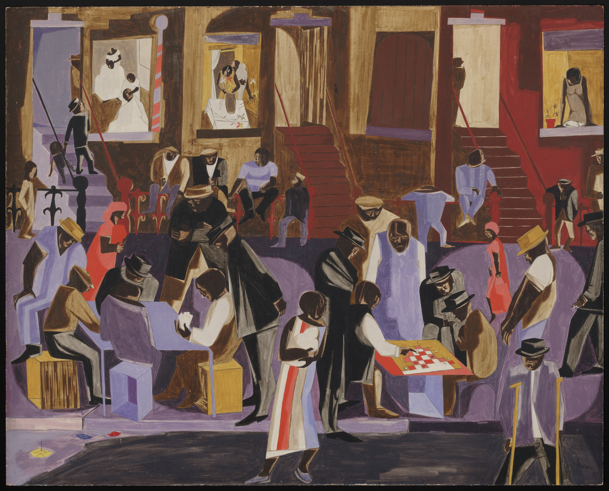 Jacob Lawrence. Street Shadows. 1959