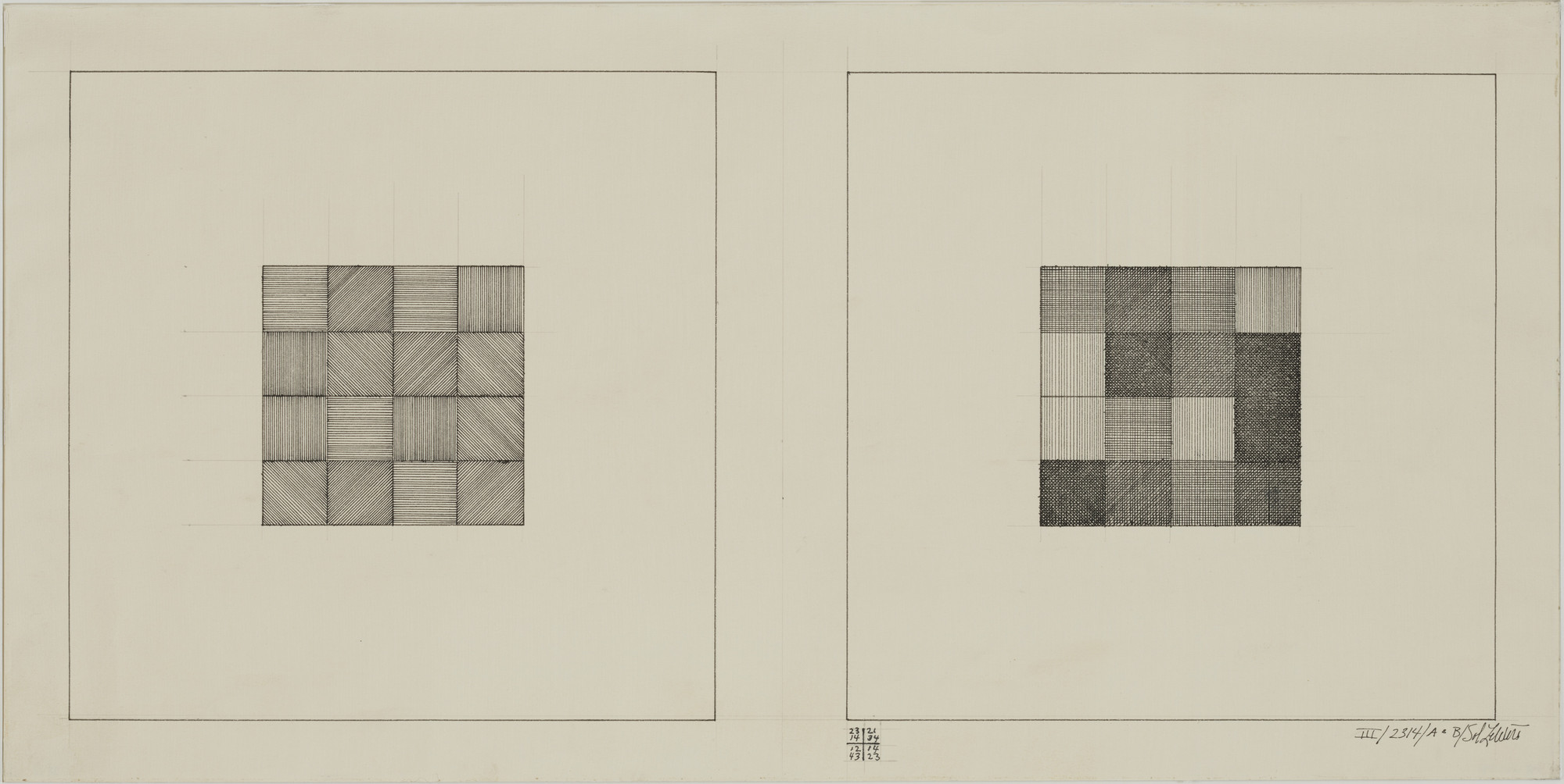 Sol LeWitt. Drawing Series III/2314/A & B. 1969