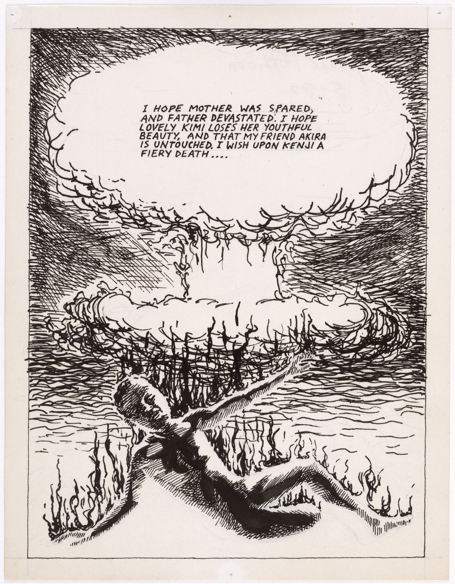 Raymond Pettibon. No Title (I Hope Mother...). 1982