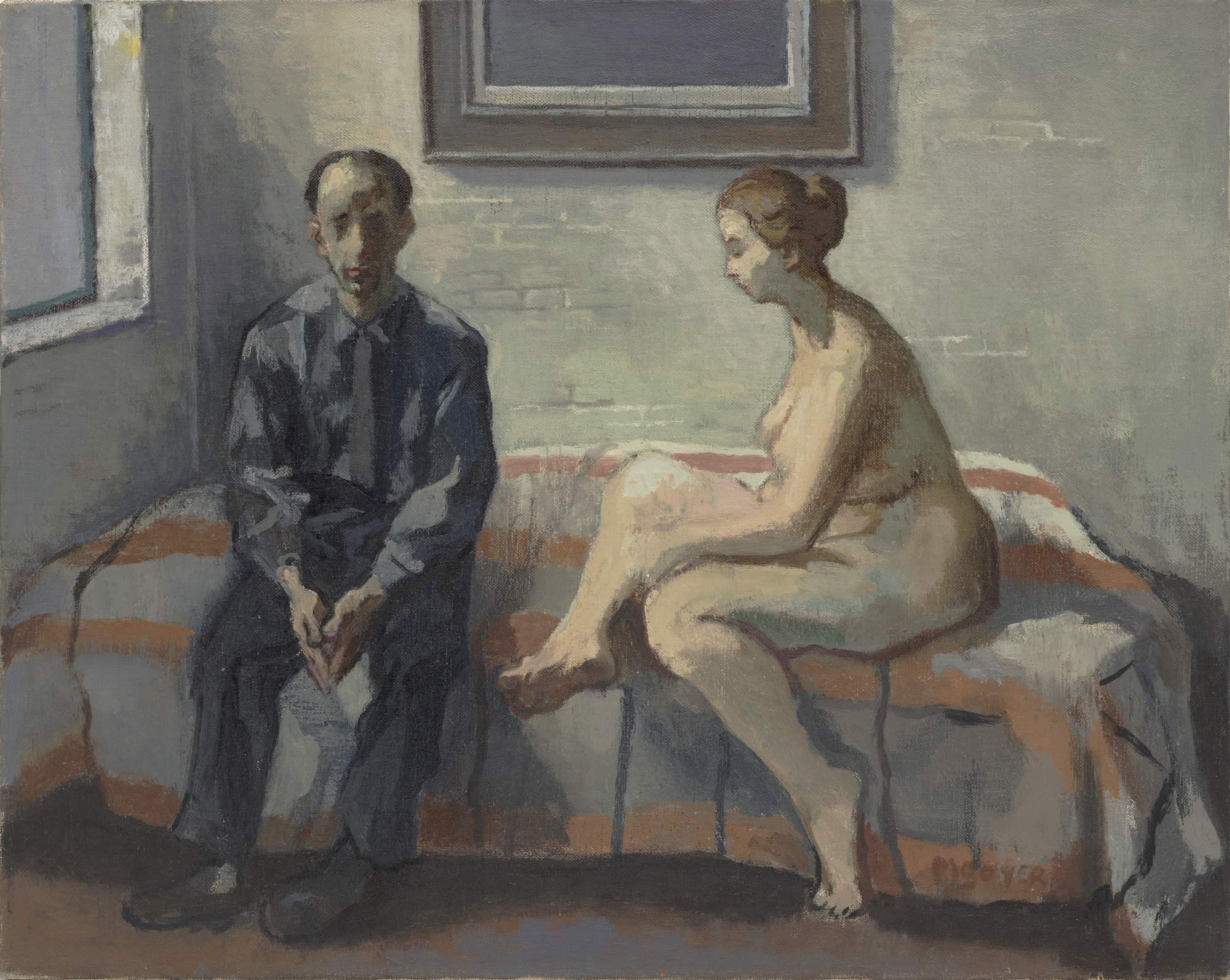 Moses Soyer. Artist and Model. 1962