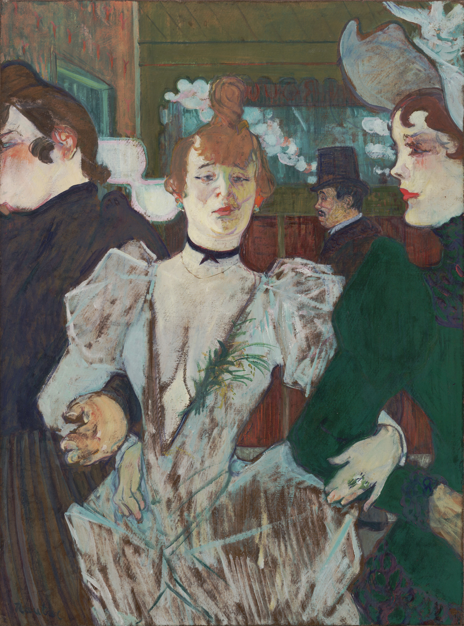 Henri de Toulouse-Lautrec. La Goulue at the Moulin Rouge. (1891-92)