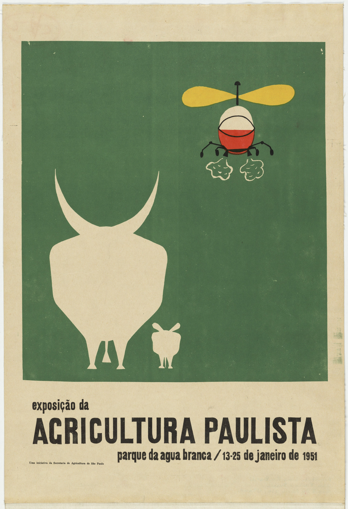 Lina Bo Bardi. Exposição da Agricultura Paulista (Poster for exhibition on agriculture in the state of São Paulo). 1951
