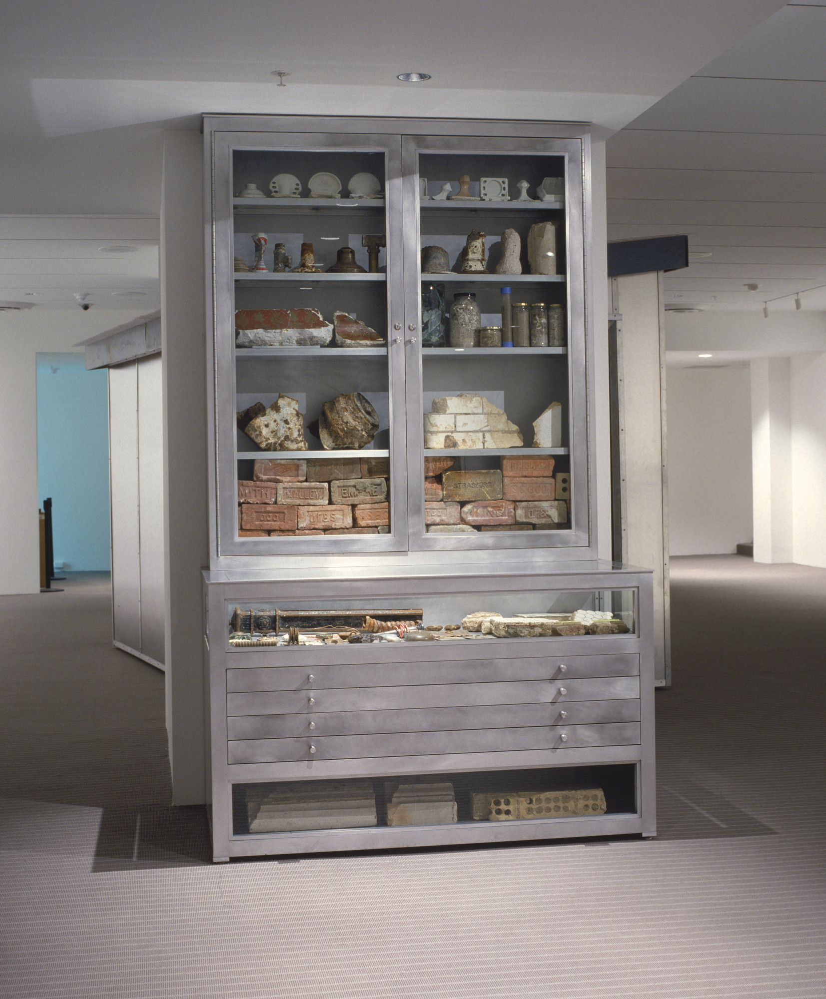 Mark Dion Cabinet From Project 82 Rescue Archeology A