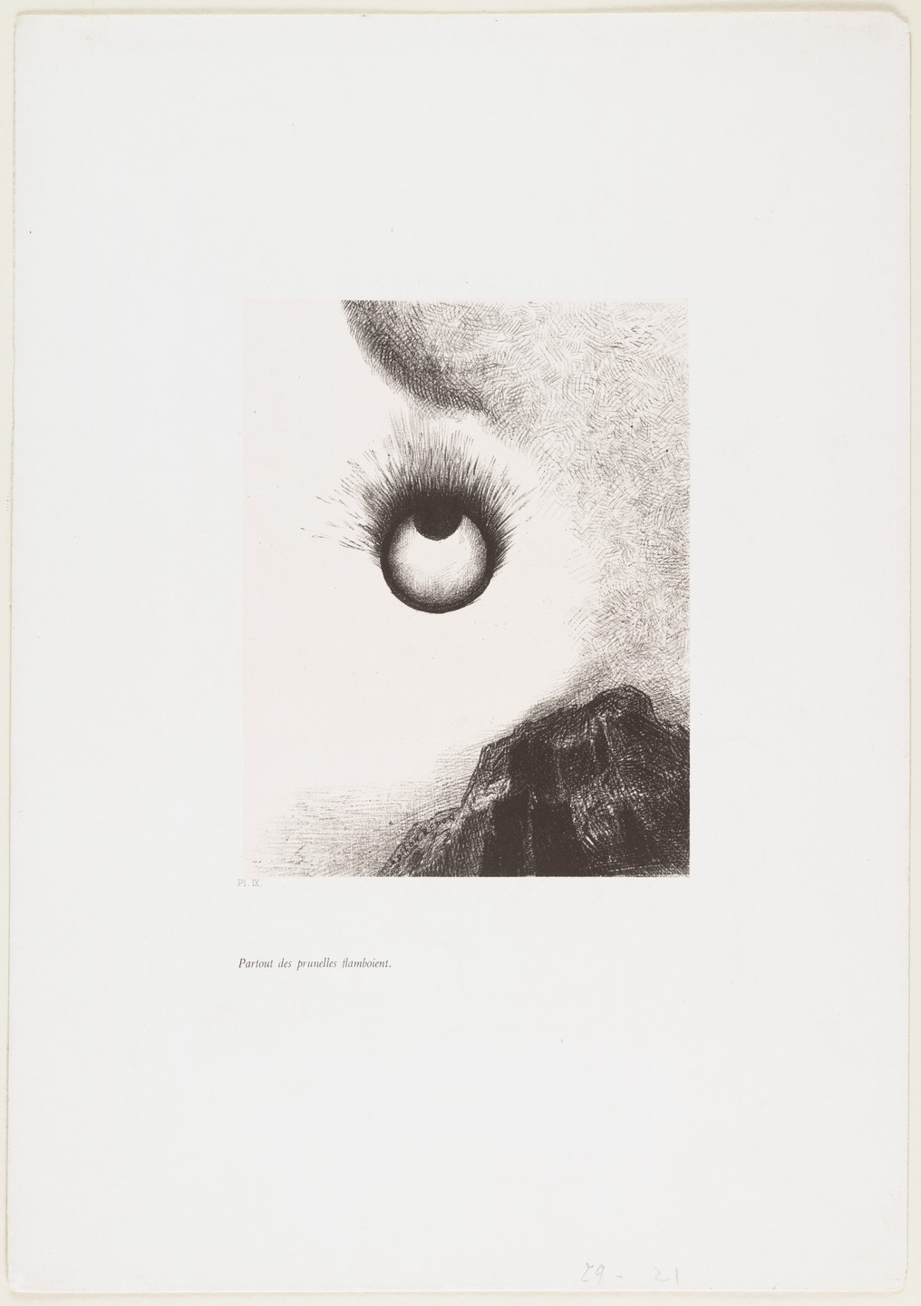 Odilon Redon. Everywhere Eyeballs Are Ablaze (Partout des prunelles flamboient) from The Temptation of Saint Anthony (La Tentation de Saint-Antoine). 1888