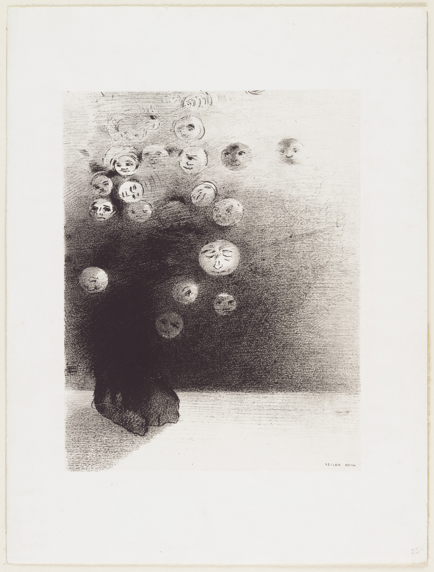 Odilon Redon. Is There Not an Invisible World? (N'y a-t-il pas un monde invisible?). 1887