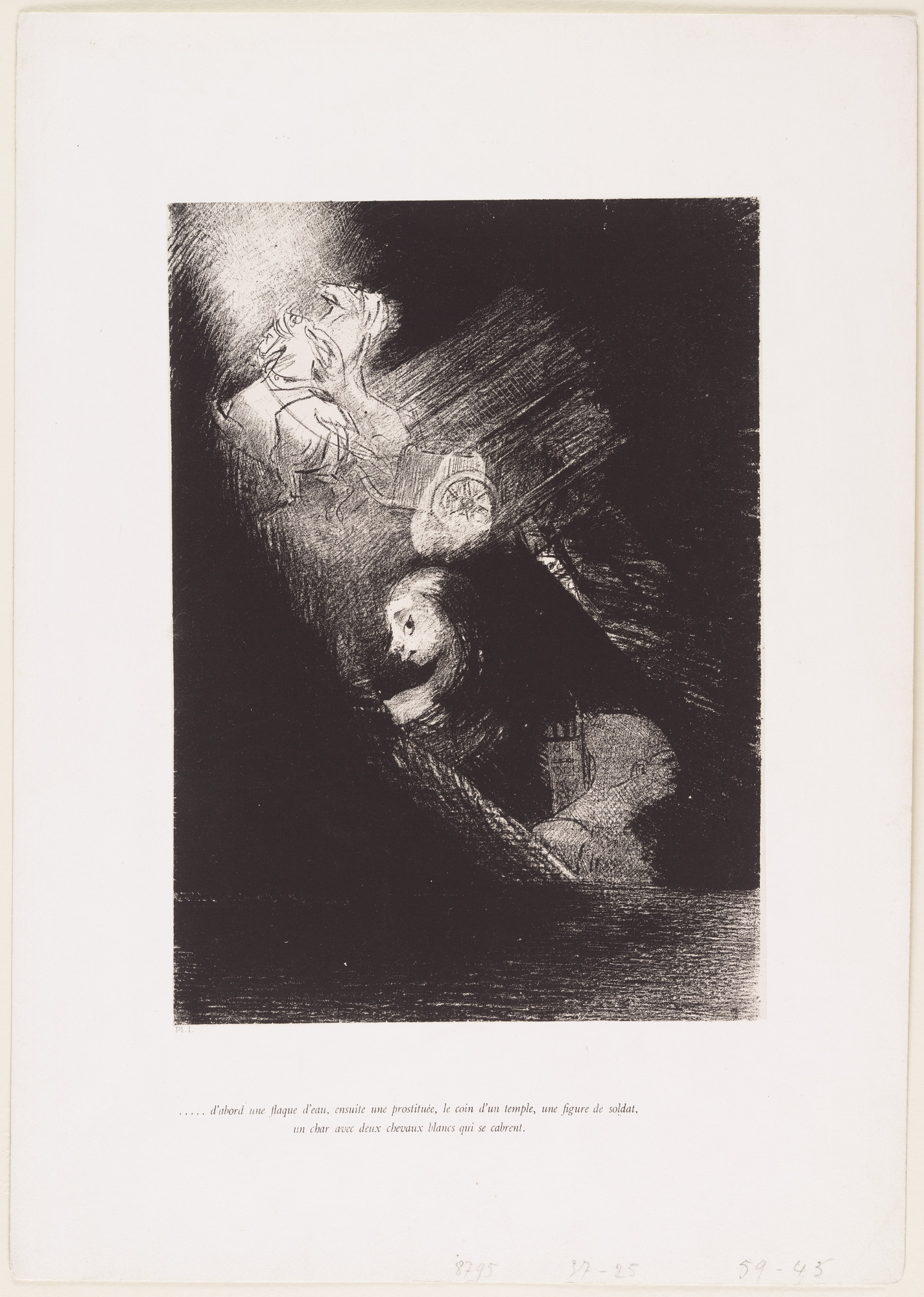 Odilon Redon. The Temptation of Saint Anthony (La Tentation de Saint-Antoine) (first series). 1888