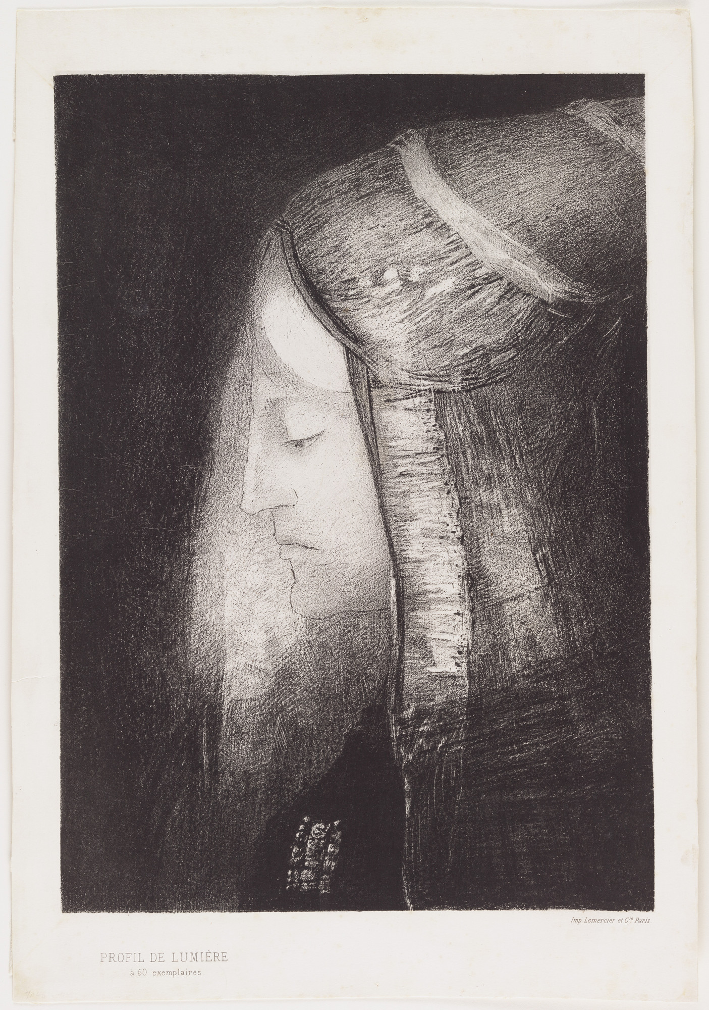 Odilon Redon. Profile of Light (Profil de Lumière). 1886