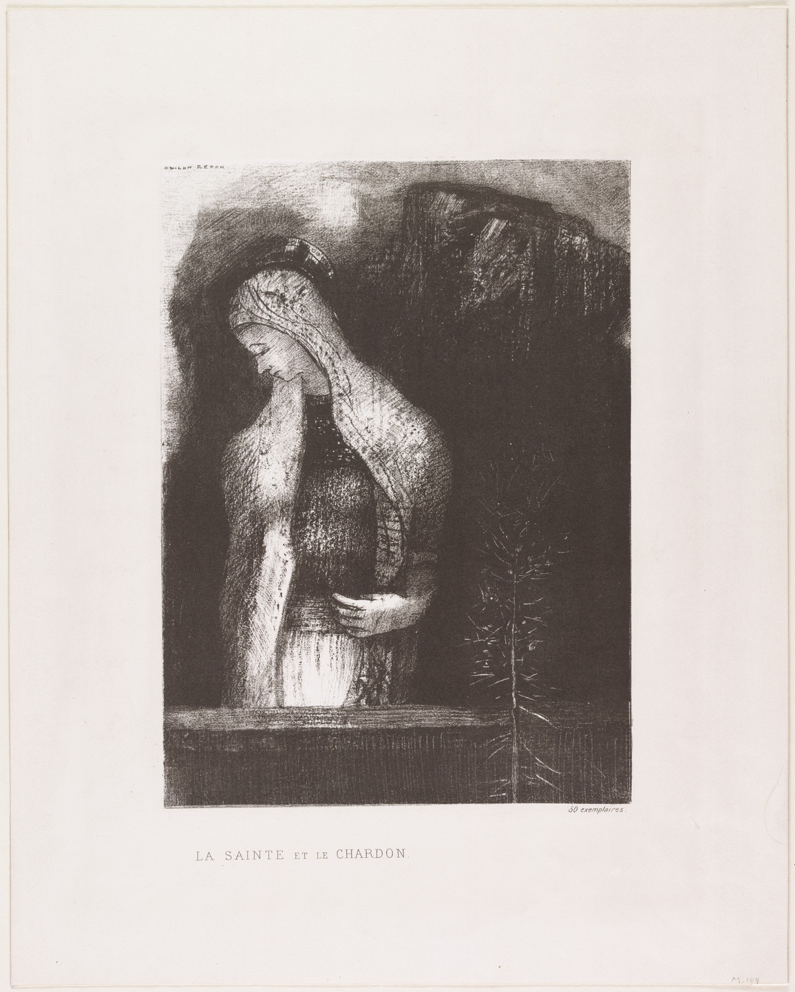 Odilon Redon. Female Saint and Thistle (La Sainte et chardon). 1891