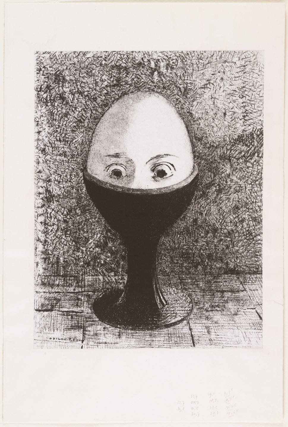 Odilon Redon. The Egg (L'Œuf). 1885