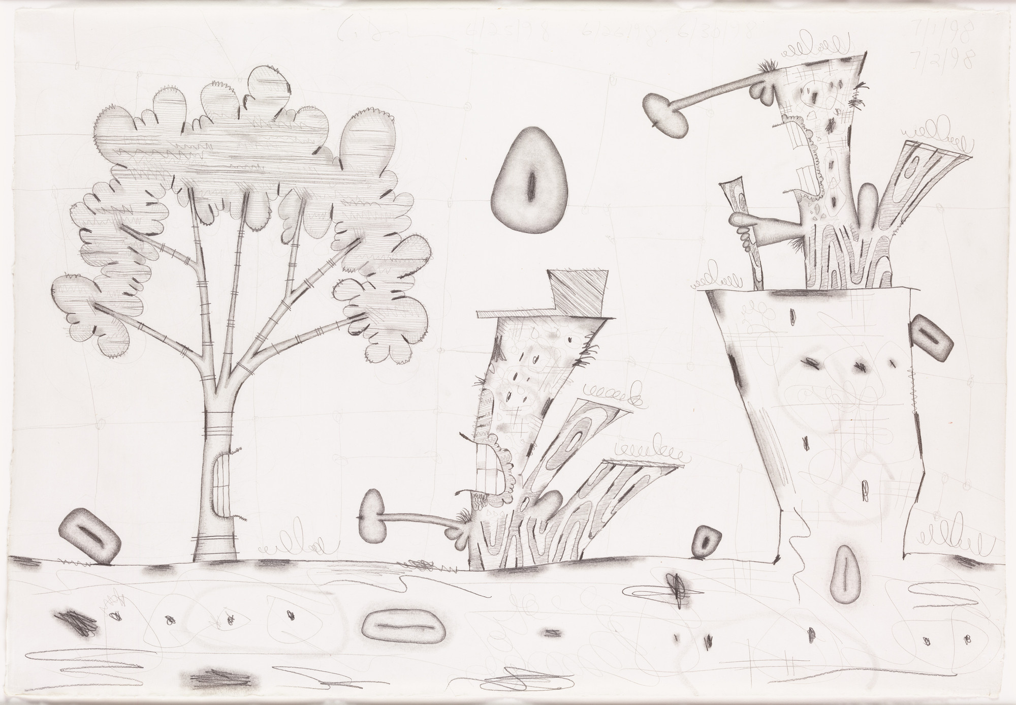 Carroll Dunham. Untitled. 1998
